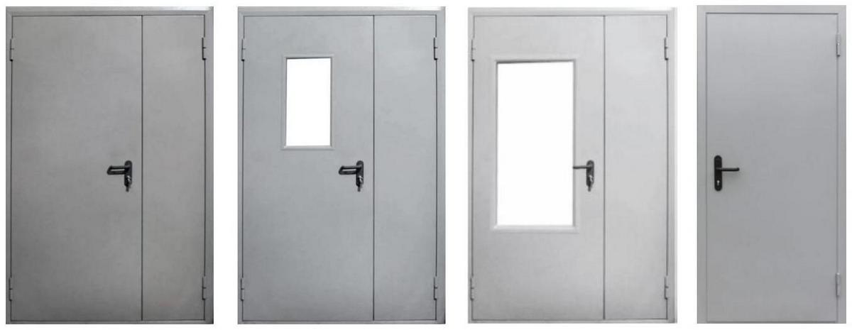 Дверь металлическая противопожарная ДМПEi60
