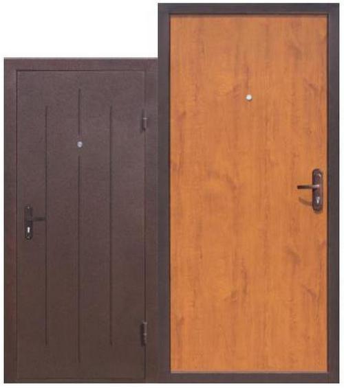 Входная металлическая дверь Стройгост 5-1 Золотистый дуб