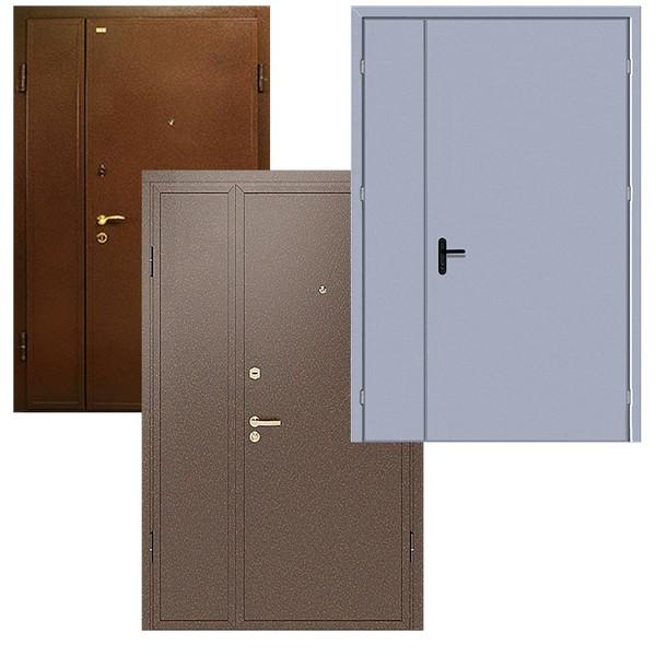 Дверь тамбурная, металлическая, двухстворчатая